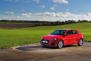 Wallpapers Audi Red Metallic 2018 A1 Sportback 30 TFSI Sport automobile