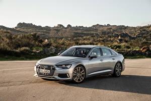 Wallpaper Audi Metallic Silver color 2018 A6 50 TDI quattro Worldwide