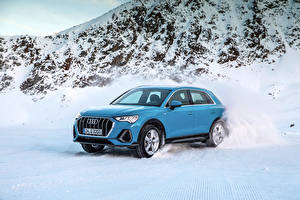 Photo Audi Light Blue Snow Metallic 2018 Q3 quattro S line Worldwide Cars