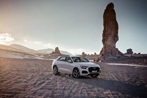 Wallpaper Audi Grey Metallic 2018 Q8 55 TFSI quattro Worldwide