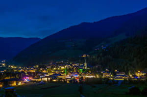 Hintergrundbilder Österreich Gebirge Haus Nacht Bad Kleinkirchheim Städte