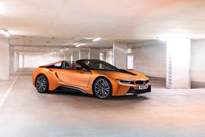Picture BMW Roadster Orange 2018 i8 Roadster Cars