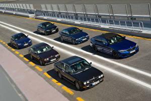 Bakgrundsbilder på skrivbordet BMW Många 1985-2018 M5 Bilar