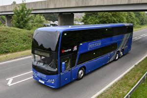 Bilder Omnibus Blau 2018 Plaxton Panorama Autos