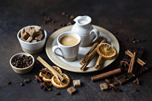 Wallpaper Cappuccino Cinnamon Coffee Star anise Illicium Chocolate Cup Pitcher Grain Sugar