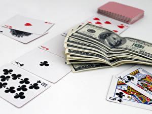 Fotos Spielkarte Dollars Papiergeld Geld