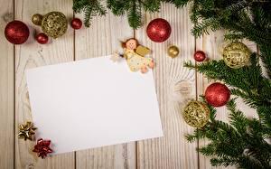 Hintergrundbilder Neujahr Ast Kugeln Blatt Papier Bretter Vorlage Grußkarte