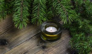 Images Christmas Candles Fire Branches Boards