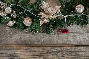 Wallpaper Christmas Boards Branches Pine cone Balls