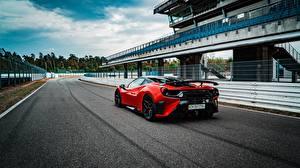 Picture Ferrari Red Back view GTB 2018 488 Pogea Racing FPlus Corsa Cars
