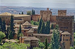 Wallpapers Fortress Castles Spain Alhambra, Granada Cities