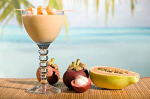 Hintergrundbilder Obst Smoothie Weinglas Mangosteen Papaya Lebensmittel
