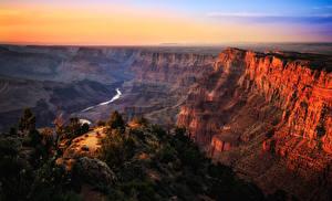 Bilder Grand Canyon Park USA Park Gebirge Sonnenaufgänge und Sonnenuntergänge Fluss Canyon
