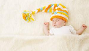 Hintergrundbilder Baby Mütze Schlaf kind