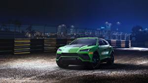 Wallpaper Lamborghini Green Urus 2019 ST-X automobile