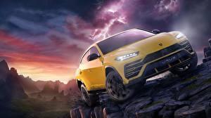Pictures Lamborghini Forza Horizon 4 Yellow Urus auto