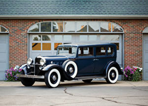 Fotos Lincoln Antik Blau Metallisch 1932 Model KB 5-passenger Sedan Autos