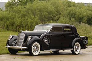 Wallpapers Lincoln Retro Black Metallic 1938 Model K Semi-Collapsible Cabriolet by Brunn Cars