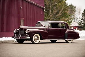 Hintergrundbilder Lincoln Antik Bordeauxrot Metallisch 1942 Continental Coupe Autos