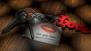 Bakgrunnsbilder Lepper Kjærlighet Nøkkel Papirark Engelsk Kjetting