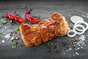 Pictures Meat products Ham Chili pepper Black pepper Onion Seasoning Boards Salt Food