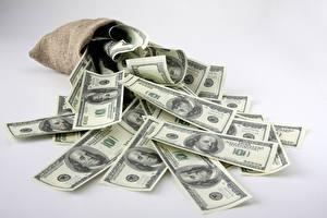 Bilder Geld Banknoten Dollars Viel Grauer Hintergrund