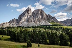 Bilder Gebirge Wälder Landschaftsfotografie Felsen