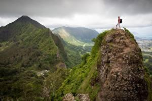 Fotos Gebirge Bergsteigen Mann Landschaftsfotografie Felsen Bergsteiger Natur