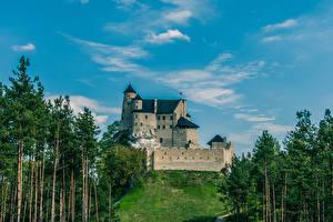 Wallpaper Poland Castle Bobolice Castle