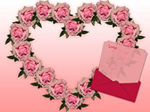 Hintergrundbilder Rosen Herz Rosa Farbe Englisch Vorlage Grußkarte