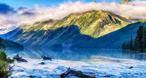 Bilder Russland Gebirge See Wälder Altai Kucheklinskoe lake Natur