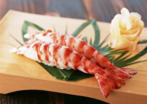 Wallpaper Seafoods Shrimp Closeup