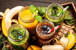 Photo Smoothie Vegetables Fruit Jar Food