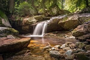 Images Stone Waterfalls Creek Nature