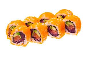 Bilder Sushi Weißer hintergrund