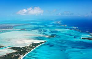 Bilder Tropen Landschaftsfotografie Meer Küste Von oben Bahamas beach