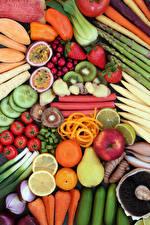 Wallpaper Vegetables Fruit Apples Tomatoes Pears Citrus Strawberry