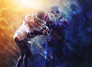 Bilder American Football 2 Uniform Helm Sport