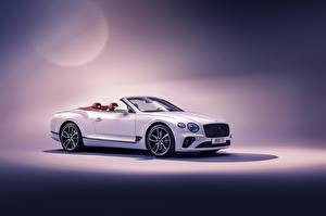 Picture Bentley White Cabriolet Continental GT Convertible 2019 automobile