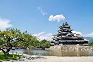 Bilder Burg Japan Park Matsumoto Castle, Nagano Städte