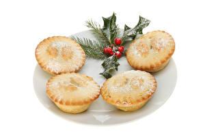 Hintergrundbilder Neujahr Backware Keks Muffin Weißer hintergrund Lebensmittel
