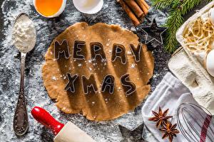 Bilder Neujahr Backware Sternanis Mehl Englisch Löffel das Essen