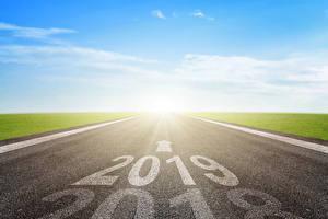 Fotos Neujahr Wege 2019 Asphalt Natur