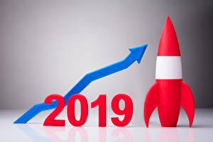 Hintergrundbilder Neujahr Rakete 2019 Pfeil (Symbol)