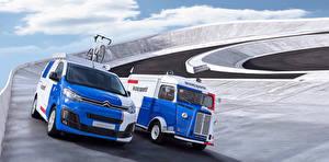 Wallpapers Citroen 2 At speed 2017 Jumpy X  Le Coq Sportif auto