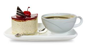 Wallpaper Coffee Torte Dessert Cup Breakfast White background