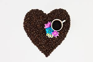 Wallpapers Coffee Grain Heart Cup