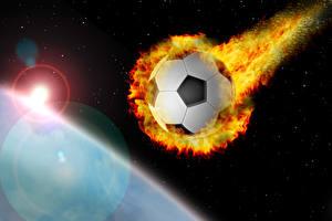 Image Footbal Flame Ball Flight