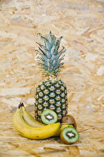 Image Fruit Pineapples Bananas Chinese gooseberry