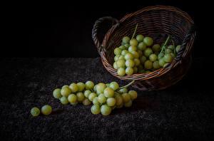 Bilder Weintraube Stillleben Weidenkorb das Essen